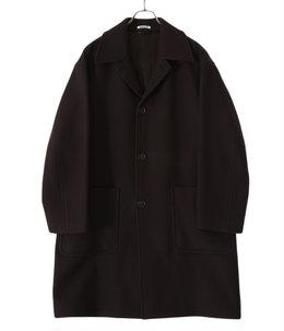 DOUBLE CLOTH LIGHT MELTON SOUTIEN COLLAR COAT