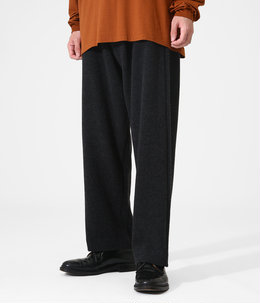 CASHMERE WOOL BRUSHED JERSEY PANTS