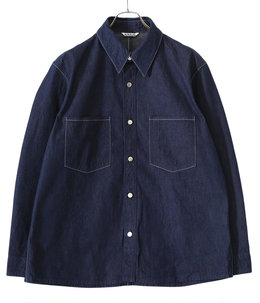 HARD TWIST LIGHT DENIM SHIRTS BLOUSON