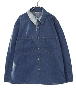 SUN FADE BLEACH LIGHT DENIM SHIRTS BLOUSON