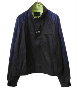 Block jacket green logo