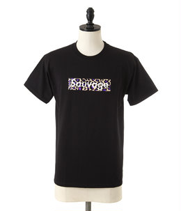 BLACK T-SHIRT Sauvage Leopard Logo (purple)