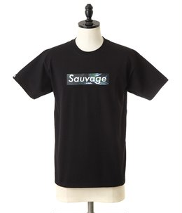BLACK T-SHIRT Sauvage Rat Snake Logo