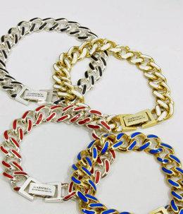 Color C Brace L Gold/Black チェーンブレスレット