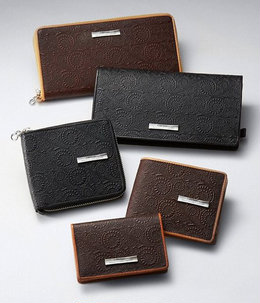 10 Vine Pattern Zip Long Wallet (ジップ付き 長財布)