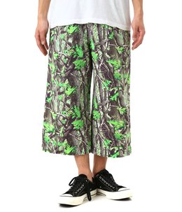 Camouflage 9/10 Length Wide Pants
