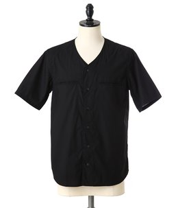 Black Baseball Jersey w/Piping