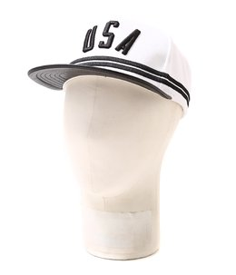 White USA Stripe Hat