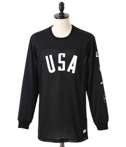 Black USA Jersey Panel Longsleeve