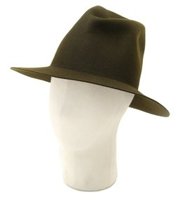 WAX FELT HAT -M.GREEN-【BEL】