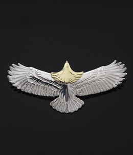Eagle Pendant top Ruby-M