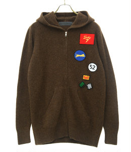 Heavy Zip Hoodie with Chenille Patches