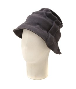 FUR FELT HAT with BAND-gray-