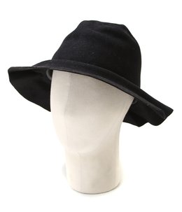 EASY BURNT FUR FELT LONG BRIM HAT-black-