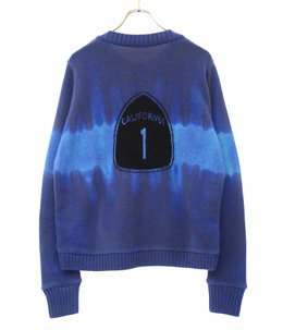 Regular Sweater Intarsia Back Dyed