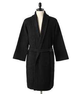 Super Soft Cashmere Robe with Pocket -CHACOAL-