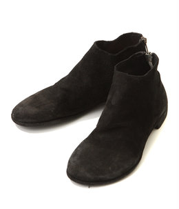 BACK ZIP ANKLE SHOES -CALF REVERSE-