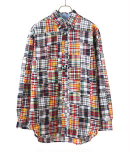 PATCHWORK CHECKED LONG SLEEVE SHIRT