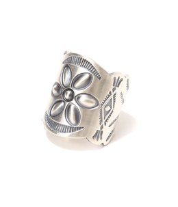 Desert Flower Silver Tapered Band RING by STANLEY PARKER
