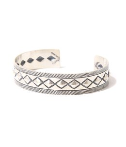 Cobblestone Silver Bracelet Narrow  by STANLEY PARKER