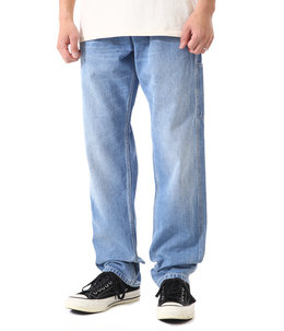 RUCK SINGLE KNEE PANT(Blue worn bleached)