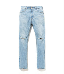 DWELLER 5P JEANS DROPPED FIT C/P 12.5oz DENIM STRETCH VW LIGHT