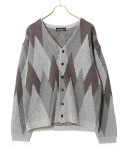 5G argyle knit cardigan