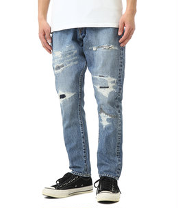 Five year wash remake tepered denim pants