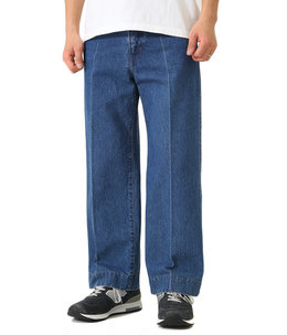 COTTON DENIM / STRAIGHT WIDE PANTS