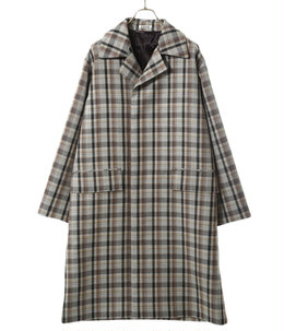 DOUBLE FACE CHECK SOUTIEN COLLAR COAT