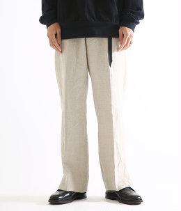 SIDE SLIT PANTS - linen canvas -