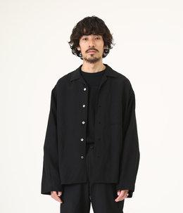SIDE SLIT OPEN COLLAR SHIRTS - ra/li cloth -