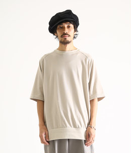 CREW NECK S/S - combed cotton knit -