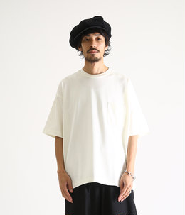 POCKET TEE S/S - compact cotton knit -