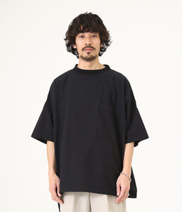 WIDE CREW NECK TEE - organic cotton broad -