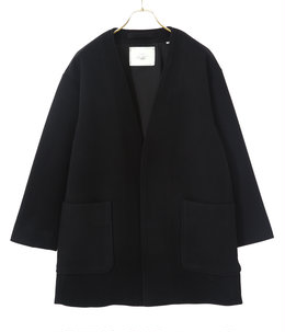 TASMANIA WOOL NO COLLAR JACKET