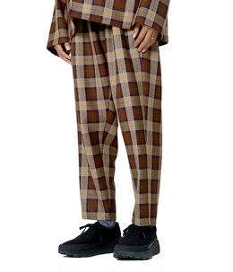 Wool Check Cook Pants