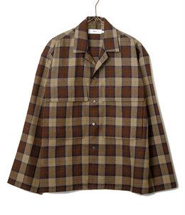 Wool Check Military Shirt
