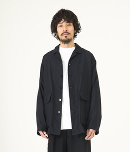 【ONLY ARK】別注 WIDE SHIRTS JACKET - 60/- linen coolmax -