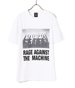 RAGE AGAINST THE MACHINE / WASHED HEAVY WEIGHT CREW NECK T-SHIRT ( TYPE-4 )