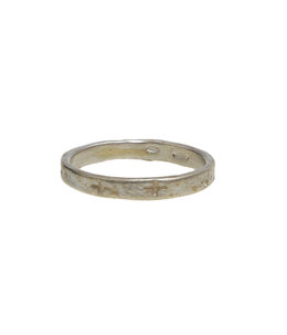 thin carved crosses ring
