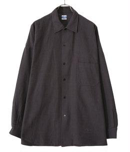 Cotton Slab Brushed Big Shirt