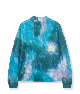 DYED PIQUE MOCK NECK LONG SLEEVE