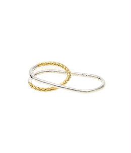 【レディース】Asha double ring brass Bicolor