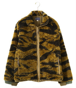 GOLD TIGER CAMOUFLAGE PATTERN BOA JACKET CIVILIAN