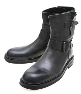 Short Engineer Boots Leather