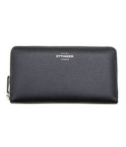 【予約】Large Zip-Around Purse w. Metal Zip