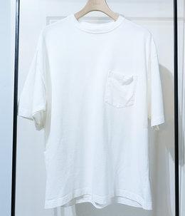 【予約】【レディース】スビンコットン 10/- 度詰め 吊り天竺 ポケット付き半袖T