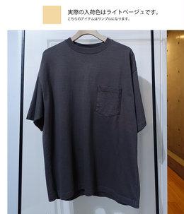 【予約】【メンズ】スビンコットン 10/- 度詰め 吊り天竺 ポケット付き半袖T