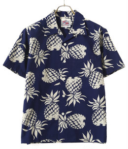 S/S COTTON OPEN SHIRT DUKE'S PINEAPPLE